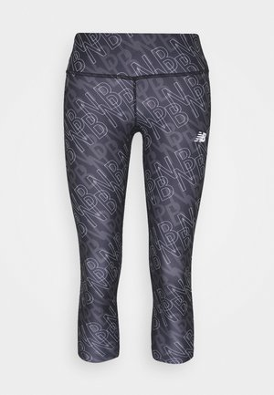 PRINTED ACCELERATE CAPRI - 3/4 sportbroek - black