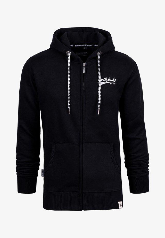 BEN - Zip-up hoodie - black