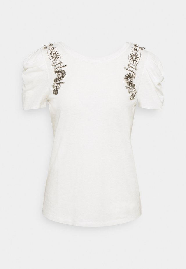 DEANA - T-shirt imprimé - off white