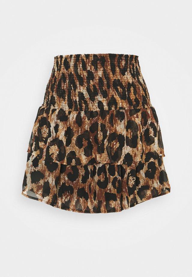 PCLEON SKIRT - Mini skirt - black