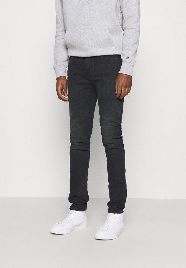 Tommy Jeans SIMON SKNY DYJBK - Jeansy Slim Fit - black/czarny Odzież Męska VIPU