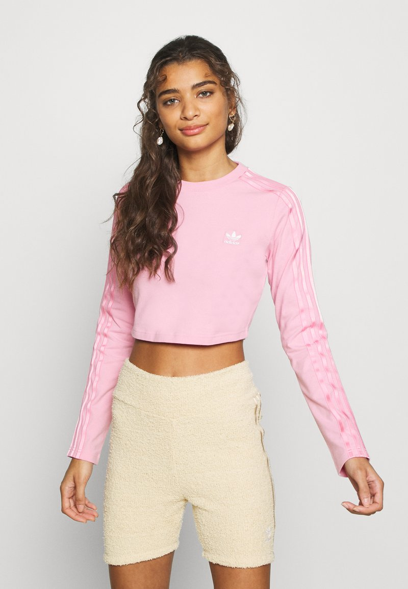 adidas Originals - CROP - Long sleeved top - lightpink