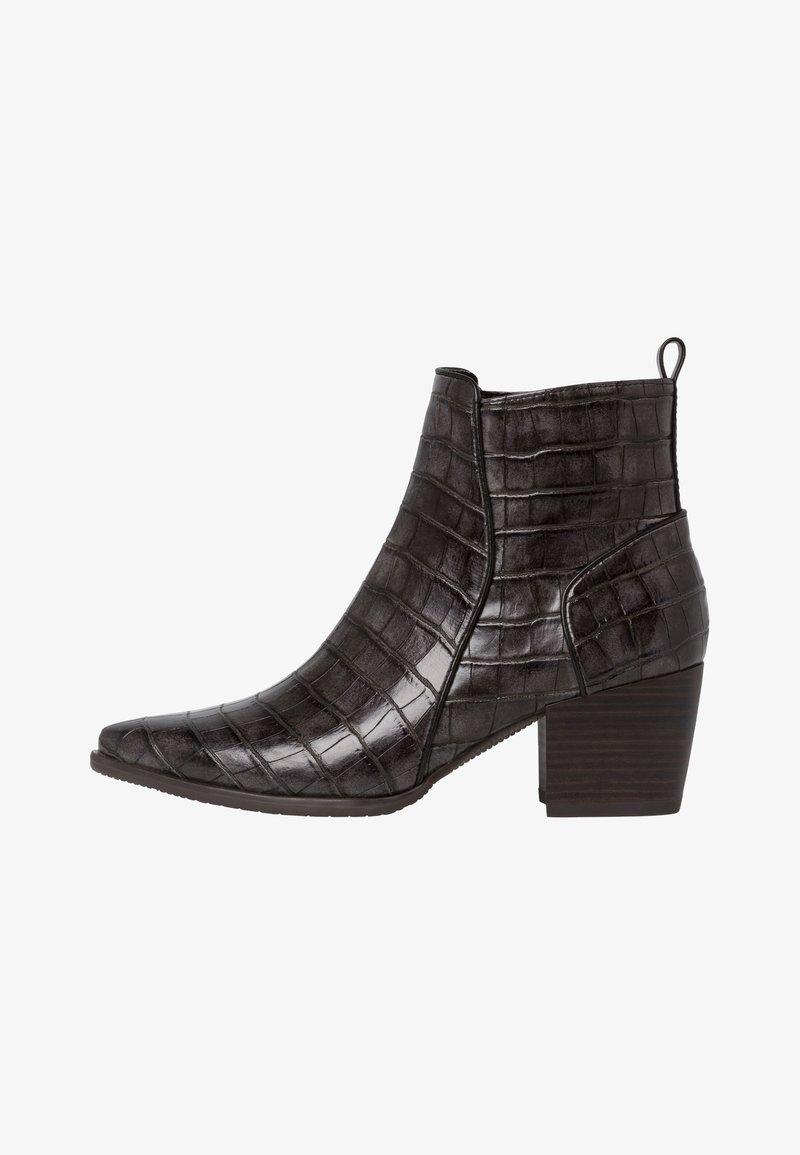 Marco Tozzi - Cowboy/biker ankle boot - dk.grey croco