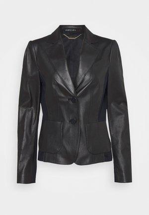 Leather jacket - dark blue