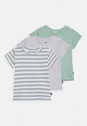 JAMIE SHORT SLEEVE TEE UNISEX 3 PACK - Print T-shirt - duck egg /cloud marle/duck egg