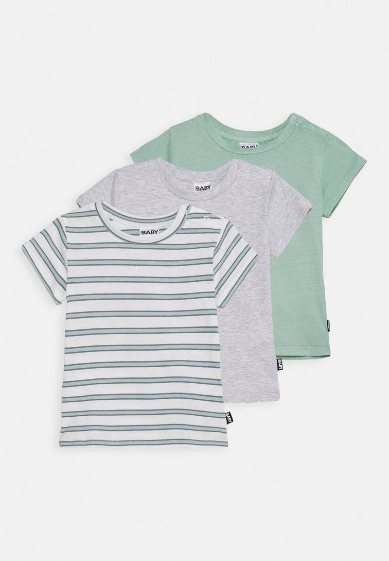 Cotton On - JAMIE SHORT SLEEVE TEE UNISEX 3 PACK - Print T-shirt - duck egg /cloud marle/duck egg