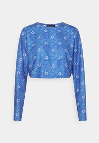 Loungeable - STAR CROPPED LONG SLEEVE WITH LEGGINGS - Pyjamas - blue - 1