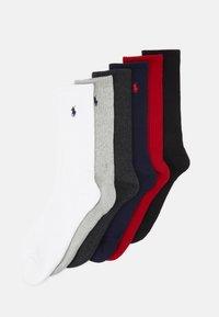 CREW 6 PACK - Socks - black/red/navy/charcoal