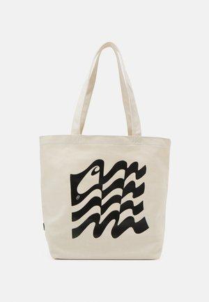 WAVY STATE TOTE UNISEX - Bolso shopping - ecru/black