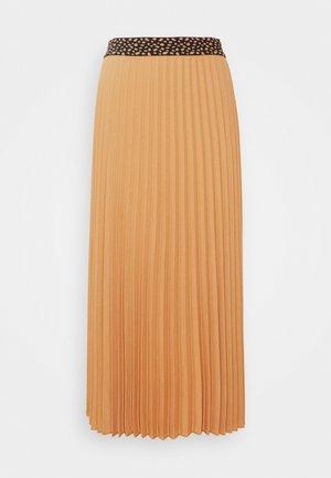 Pleated skirt - caramel