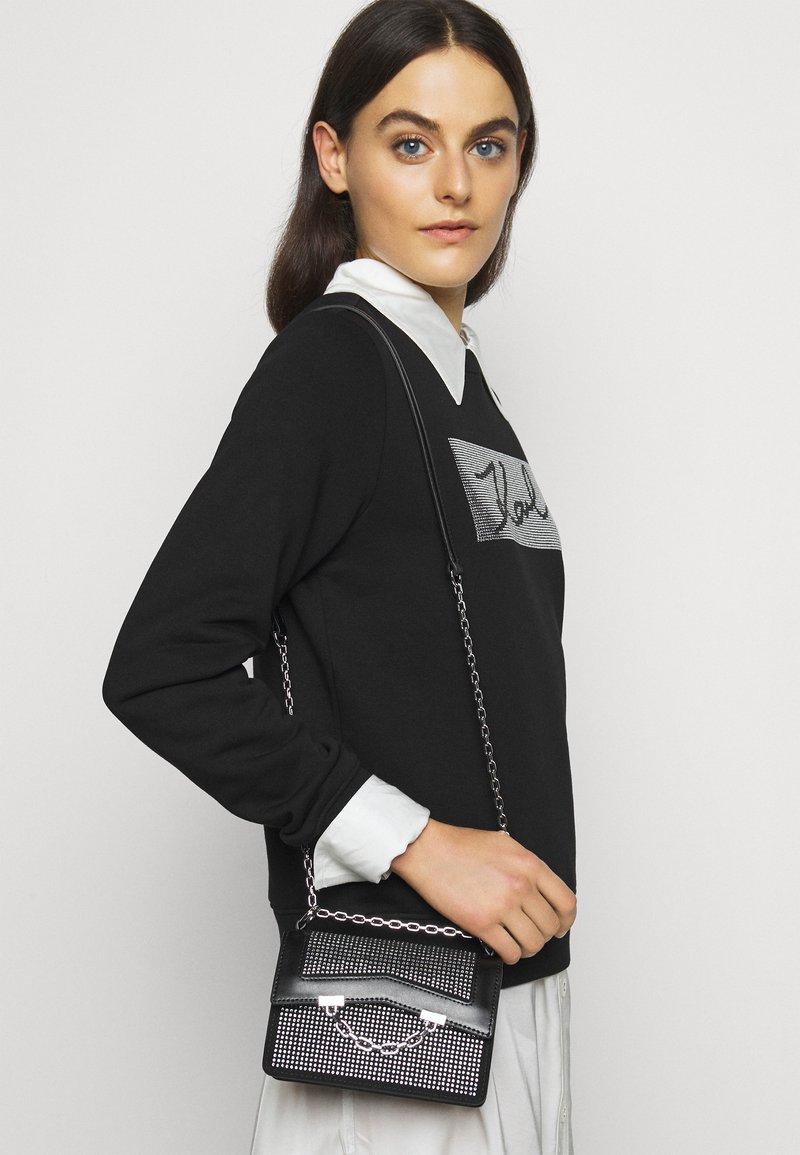 KARL LAGERFELD - SEVEN SPARKLE MINI - Handbag - black