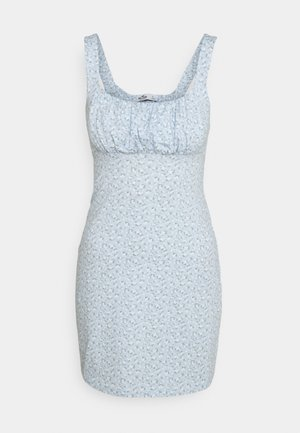 BARE DRESS - Vestito di maglina - light blue floral