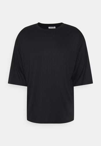 UNISEX 3/4 SLEEVED - Jednoduché triko - black