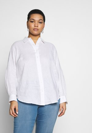 KARRIE LONG SLEEVE - Button-down blouse - white