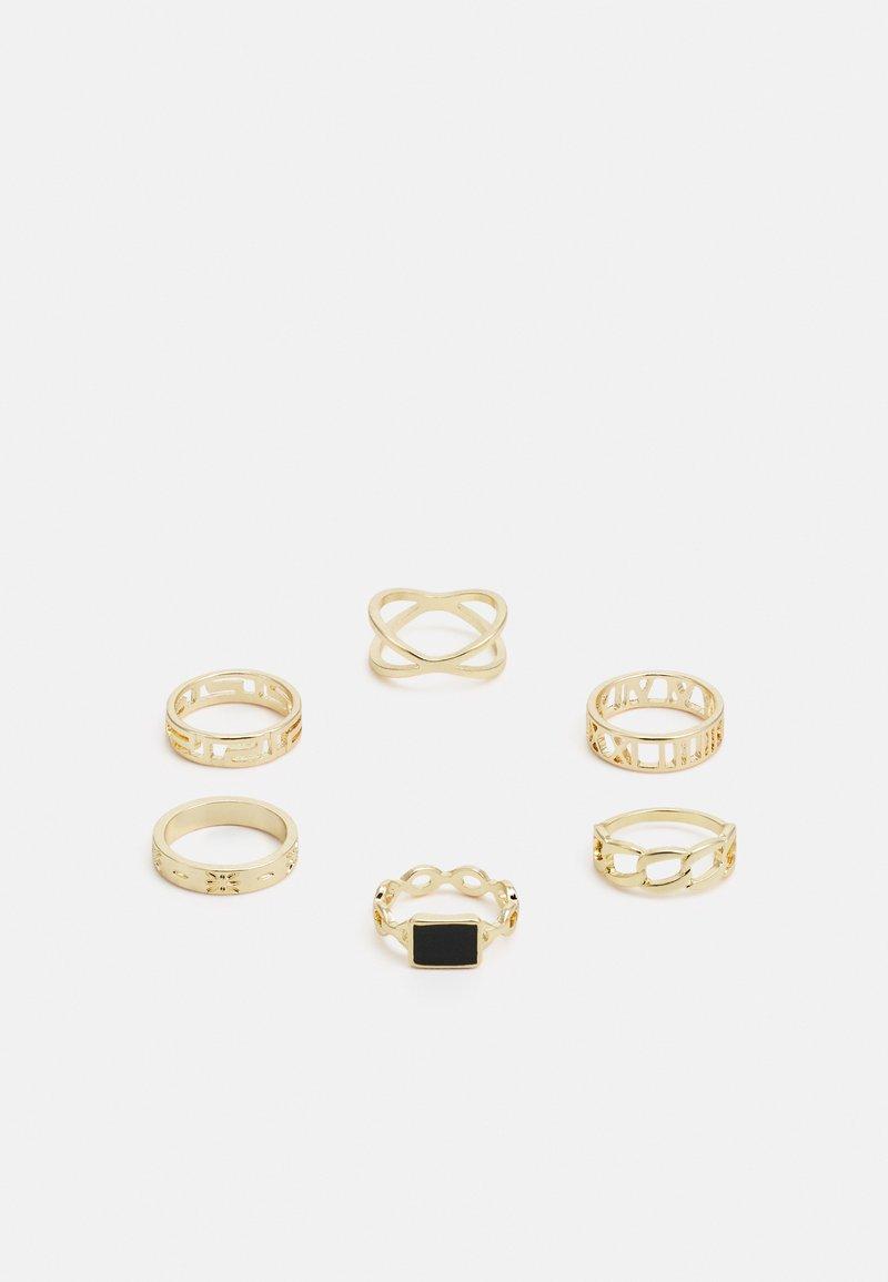 Pieces - PCPRIMROSE 6 PACK - Pierścionek - gold-coloured