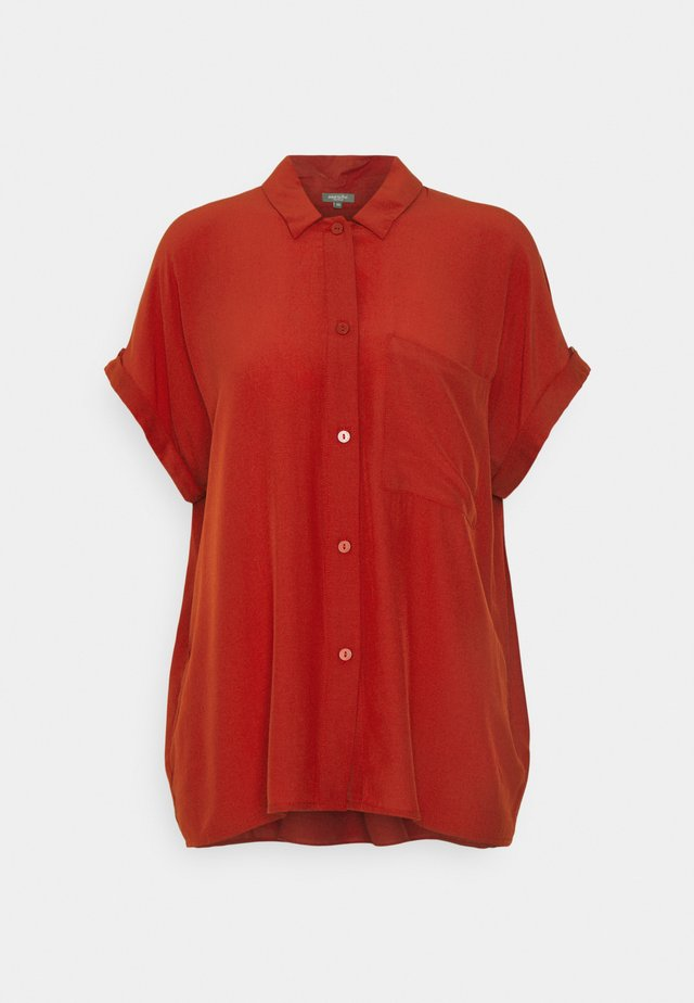 EASY FIT - Overhemdblouse - rooibos orange