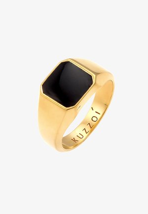 CHUNKY SQUARE BLACK - Bague - gold