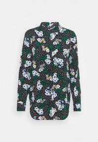Marks & Spencer London - FLORAL CASUAL - Button-down blouse - black - 3