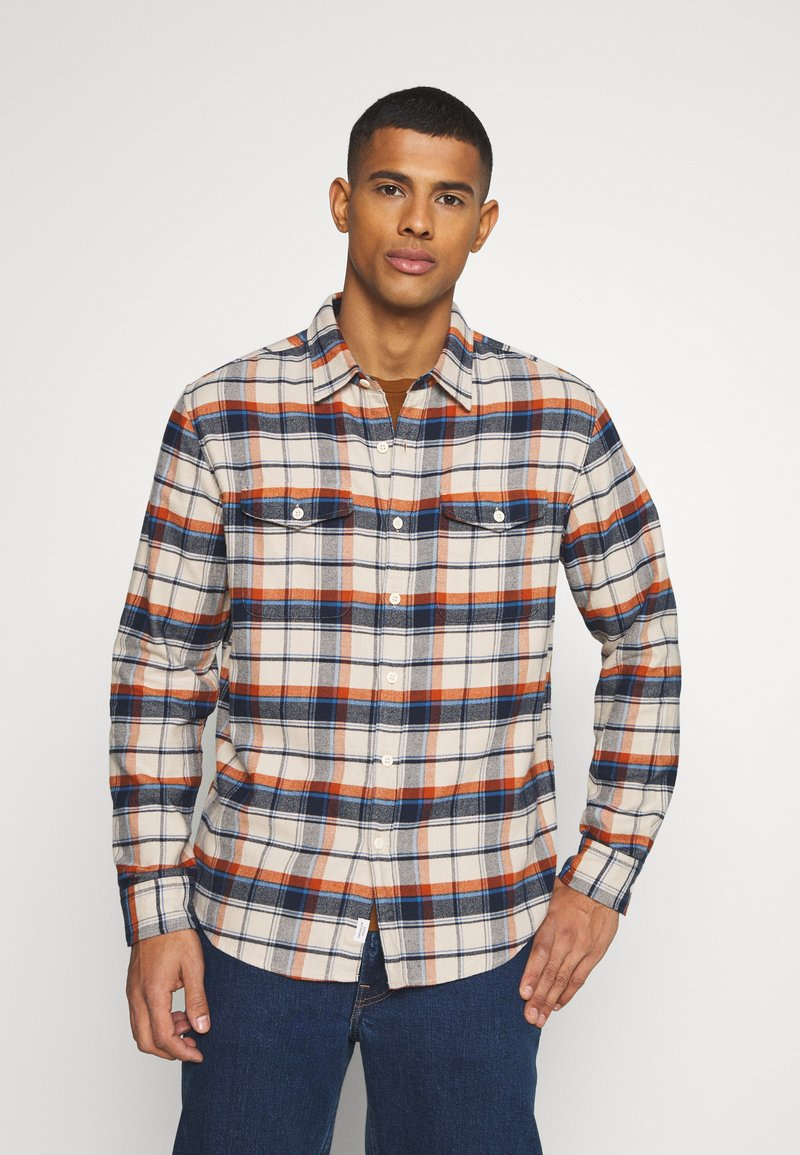 American Eagle - KLINT PLAID SAWYER - Skjorta - cream