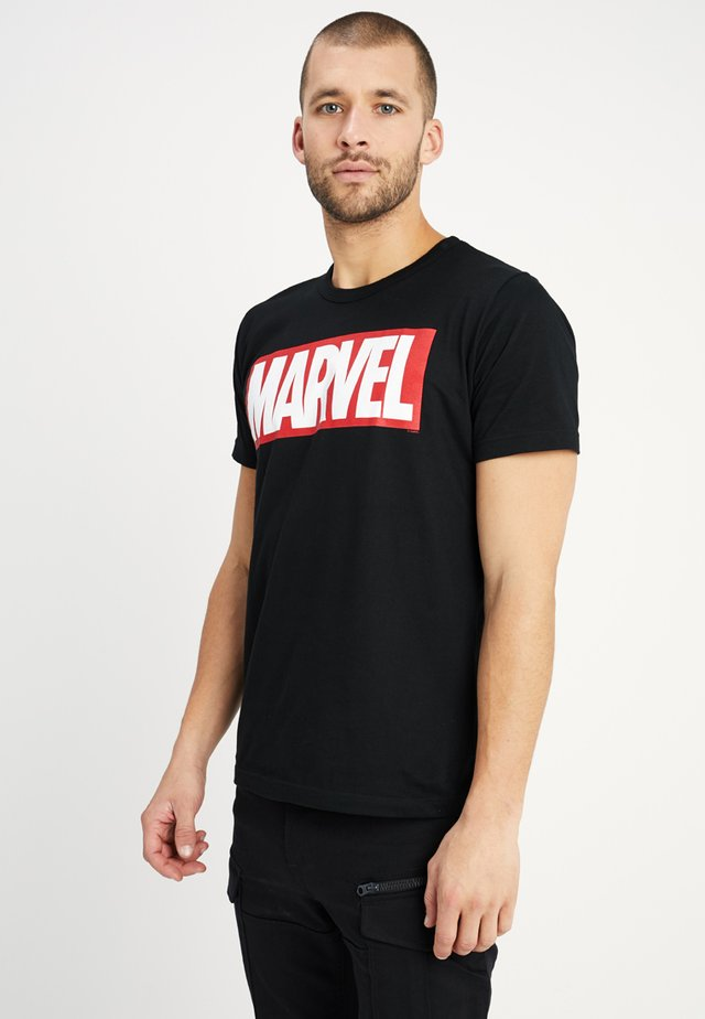 MARVEL LOGO EASY FIT - Print T-shirt - black