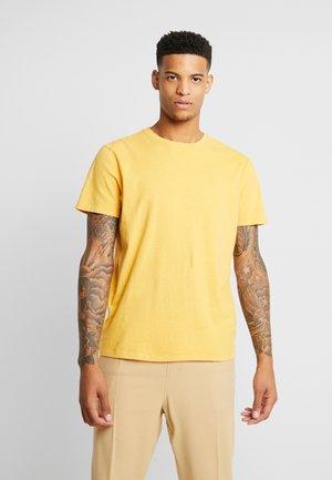 SLUB CREW NECK - Basic T-shirt - yellow