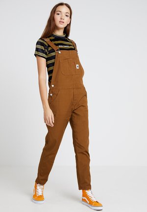 W BIB OVERALL HURON - Dungarees - hamilton brown rinsed