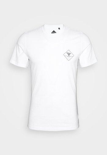 BOX LOGO TEE - T-shirt med print - white