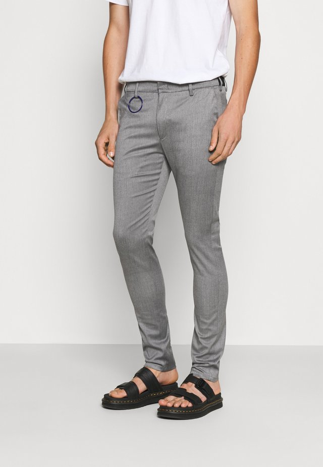 Trousers - mottled grey