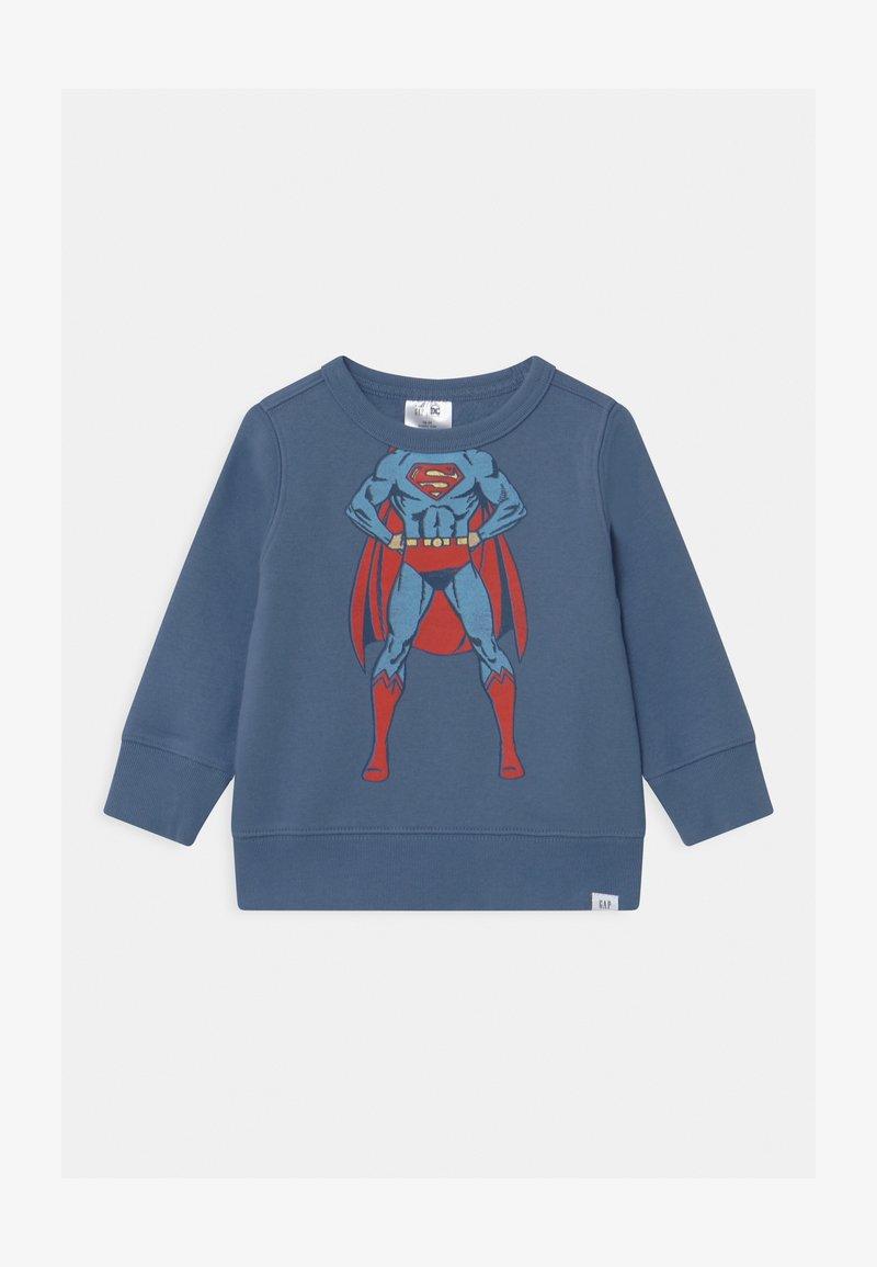 GAP - TODDLER BOY SUPERMAN CREW - Sweatshirt - bainbridge blue