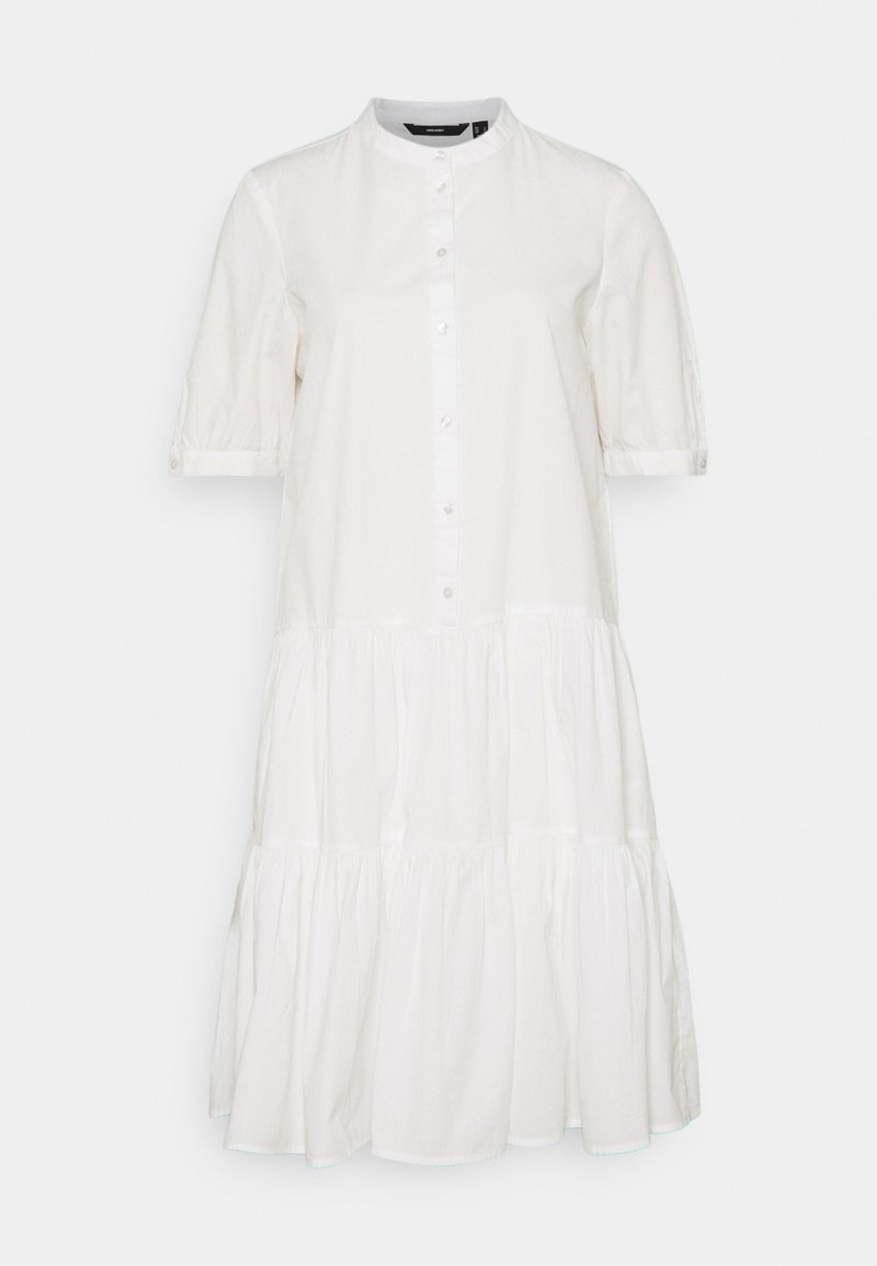 Vero Moda Tall - VMDELTA DRESS  - Shirt dress - snow white