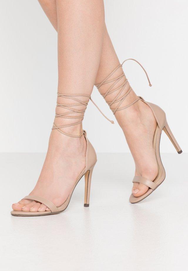 RACHEL - High heeled sandals - nude