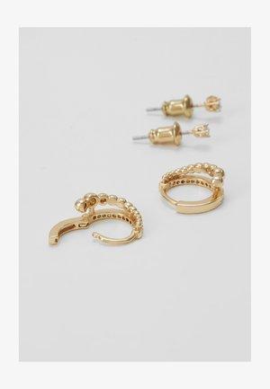 ARCHIVA SET - Náušnice - clear/gold-coloured