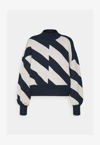 Vero Moda - VMLABINEW HIGHNECK - Strickpullover - navy blazer/birch - 1