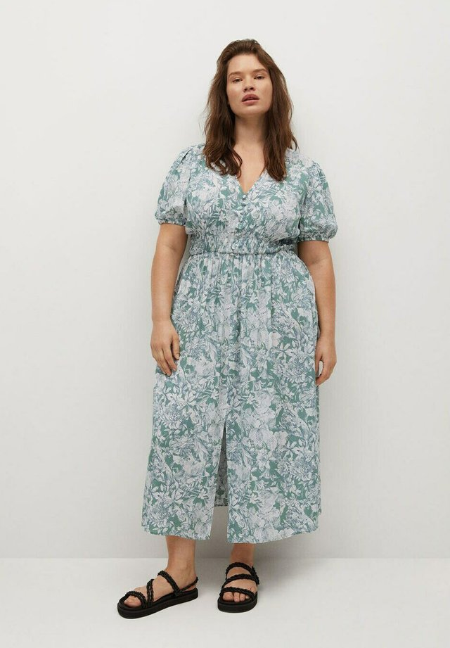 LAGO - Maxi-jurk - wassergrün