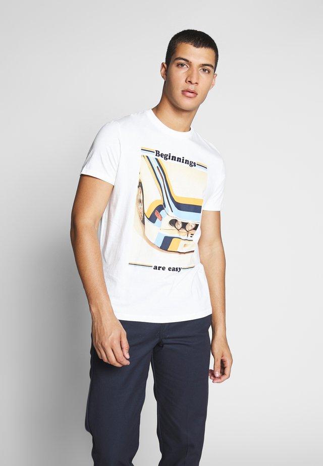 CAR  - Print T-shirt - white