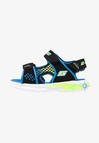 Skechers - E-II BEACH GLOWER - Outdoorsandalen - black/blue/royal/lime - 0