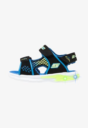 E-II BEACH GLOWER - Walking sandals - black/blue/royal/lime