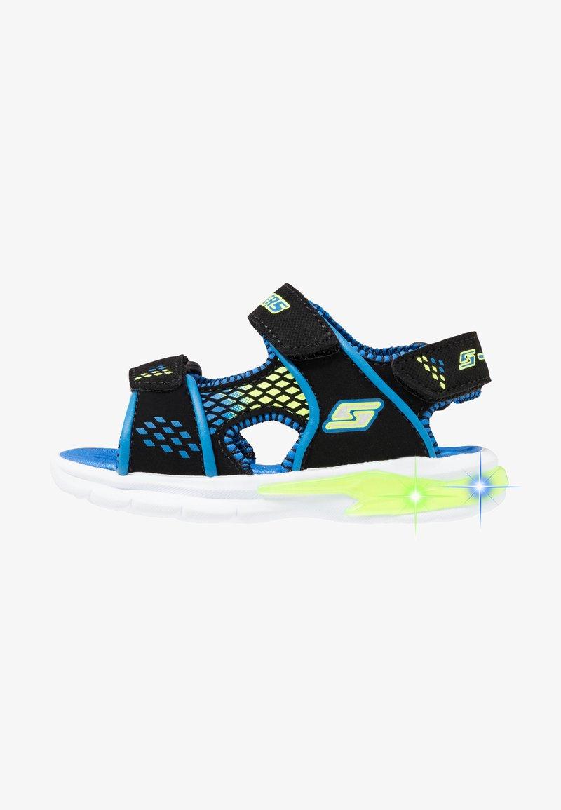 Skechers - E-II BEACH GLOWER - Outdoorsandalen - black/blue/royal/lime