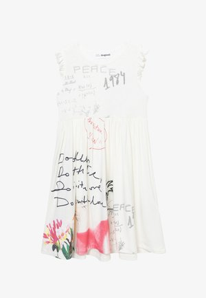 KAREN - Jersey dress - white