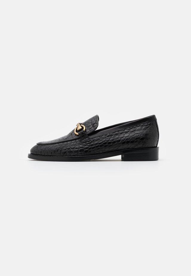 Scarpe senza lacci - nero/oro