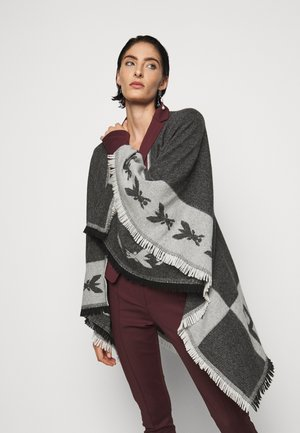 Poncho - black\grey