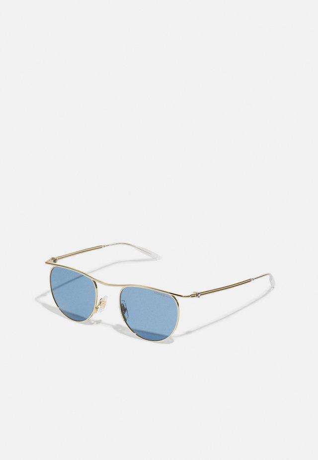 UNISEX - Sluneční brýle - gold-coloured/blue