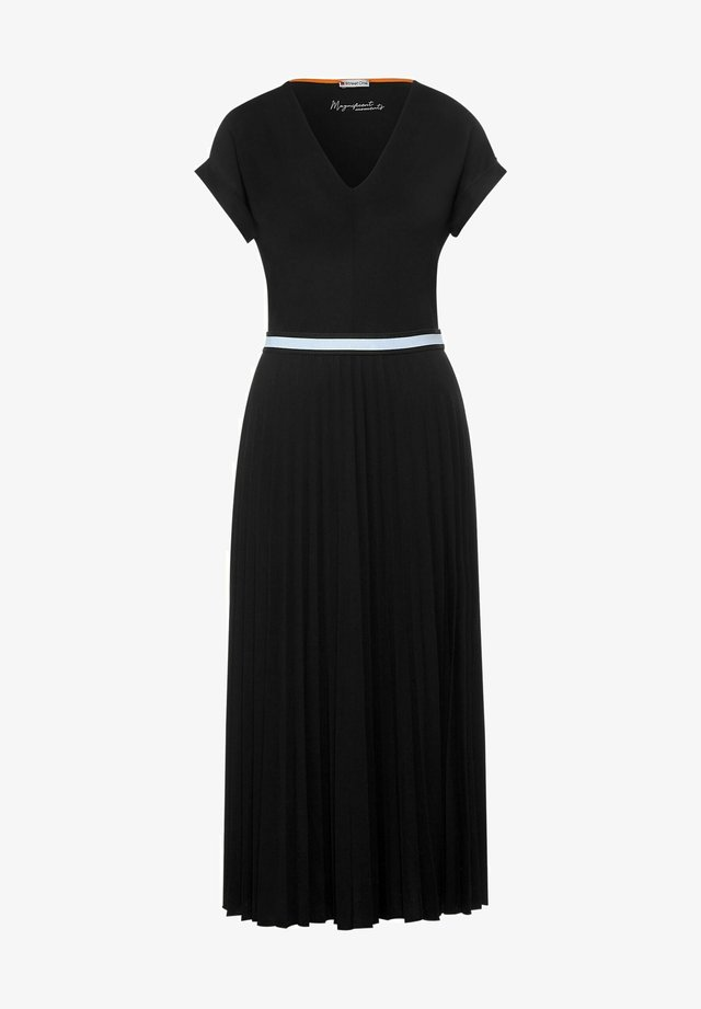 MIT V-AUSSCHNITT - Korte jurk - schwarz