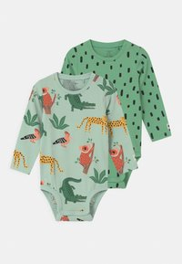 Lindex - ANIMAL 2 PACK UNISEX - Body - green - 0
