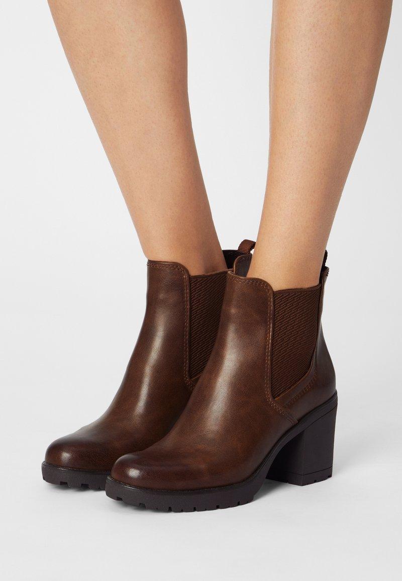 Marco Tozzi - Ankle boots - cognac antic