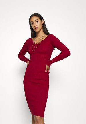 JUMPER DRESS - Sukienka etui - red
