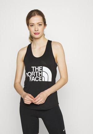 WOMENS GRAPHIC PLAY HARD TANK - Treningsskjorter - black/white