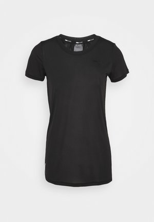 STUDIO KEYHOLE TEE - T-shirts - black