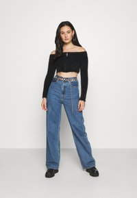 The Ragged Priest - EYELASH BARDOT ZIP - Jumper - black - 1
