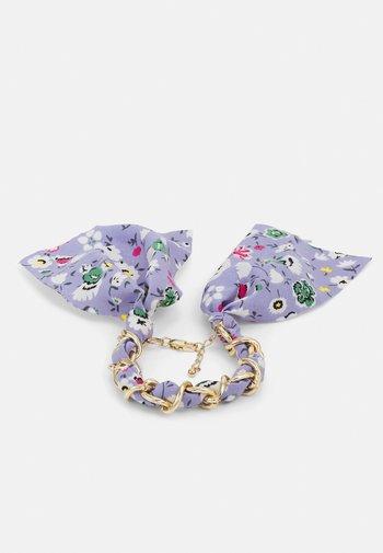 PCROSA THREADED BRACELET - Bracelet - gold-coloured /purple